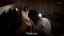 Subtitled Japanese AV star Ruri Saijou CMNF breast massage thumbnail