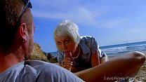 Milky Cooper and Leo Galvez anal sex fun at the beach