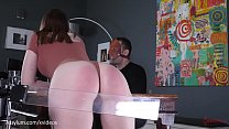 Brutal spanking machine paddles hot PAWGs ass d... Thumbnail