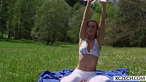 Erotic Yoga With Beautiful Pornstar Alexis Crystal - 4K - Xczech.com