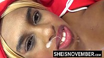 Screenshot  Cheating Blond e Ebony Babe Smiling After Cum iling After Cum