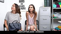 ShopLyfter - Huge Tits Milf and Hot Daughter Give Head To Avoid Jailtime