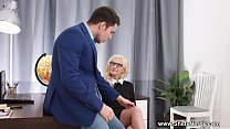 She Is Nerdy - Nerdy Teen Angelika Cristal Fucked By Her Boss