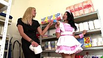 katie cummings xxx - Busty Maid Kira Queen & Hotel Guest Chelsey Lanette Fucked In Storage thumbnail