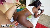 8869 BANGBROS - My Hot Black Video Gamer Girlfriend Ana Foxxx Knows Her Way Around A Joystick preview