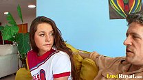 Wild Talia Palm er distracts her angry daddy r angry daddy