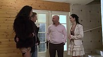 Angelina fucked by her boyfriend while visiting a house.