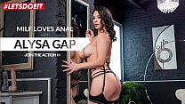 LETSDOEIT - Delicious Russian MILF Alysa Gap Get Hard Ass Fucked By Big Cock Guy