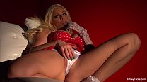 Britney Amber plays with her pussy