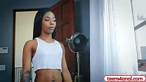 Image: Petite black teen Sarah Banks wants it in the butt