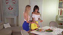 Lesbian Milfs Nancy A. And Suzy Rainbow Carrot Fuck Their Pussies preview image