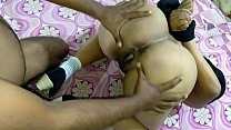 Indian Mom Sucking My Dick First Bondage Anal Sex Fucking Her Big Ass BDSM Loud Moaning