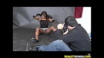 Jeana gets her ebony twat pounded by Voodoo's big cock