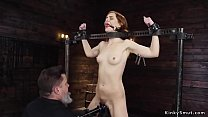 Anal red head queen tormented in devices