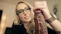 Candy May - POV handjob with a big wrist watch thumb
