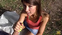 HUNT4K. Cash makes pretty babe Susan Ayn ready for blowjob and anal in park