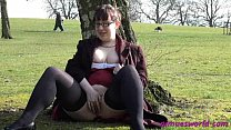 Public masturbation and pussy flashing of Nimue Preview