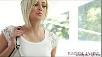 Gorgeous blonde teens Rachel and Kate goes puss...