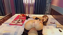 Brunette in Latex Anal Dildo camshow - wow69cams.com