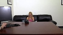 Cute Blonde in Glasses Anal and Cum Facial thumbnail