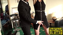 Handcuffed sub beauty roughly fucked by big dick maledom's Thumb