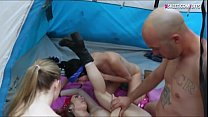 Four cutie BFFs get fucked by camping counselor in the woods