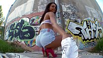 Image: Francys Belle ass fucked raw in public