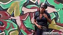 Homeless chick gets fucked by ebony cop - Digit...