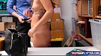 Shoplyfting teen Shane Blair trades pussy for freedom preview image