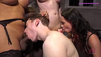 SPECIAL CELEBRATION COCKOLD COUPLE INVITED TWO MILF SHEMALES PORNSTARS TO FUCK THEM