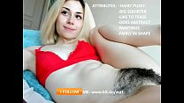 Cute Homemade Happy Hairy Pussy Girl Solo