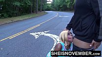 Blonde Young Ebony In Street Blowjob Sloppy Head By Msnovember POV Risky Public Vorschaubild