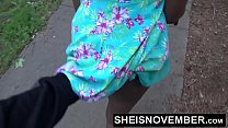Blonde Young Ebony In Street Blowjob Sloppy Hea...