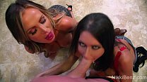 Tag Team!! Nikki Benz Jessica Jaymes Threeway!