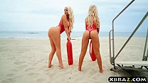 Baywatch parody with huge tits blonde lifeguard babes - 9Club.Top