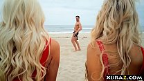 Baywatch parody with huge tits blonde lifeguard babes thumbnail