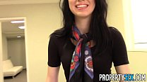 PropertySex - Beautiful brunette real estate agent home office sex video's Thumb