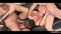 ►► German Mature Caught Cheating by Step Son and Join in Threesome ◄◄