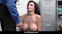 Big Tits Mommy Caught Stealing Lets Security Creampie Her