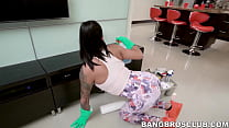 Latina housekeeper earns extra cash by getting plowed in POV