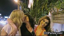 Leaked girls night out blowjob party