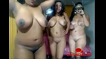 Three Black Girls Naked Dance Party - Chatterca...