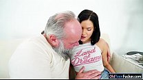 Euro Annie Wolf enjoys being licked by a grandp...