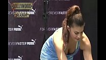 Jacqueline Fernandez boobs Showing cleavage HOT Exercise VIDEO!'s Thumb