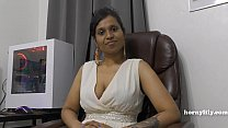 9631 Mommy's Indian friend HornyLily flirts and pees on her panties for you pov preview