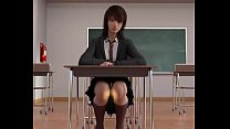 3D cowgirl with  dildo in classroom room