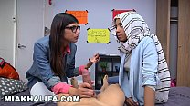 BJ Lessons with Big Tits Arab Queen Mia Khalifa Thumbnail