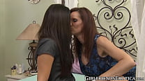 MILF dykes licking and satisfying each other with toys