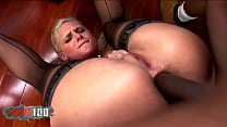 Blonde babe with big ass deeply ass fucked by a BBC