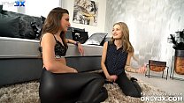 Hitchhiker Tiffany Tatum making out with the driver Amirah Adara - by Only3x